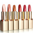 Stok fotoğraf: Beautiful lipsticks, isolated on white