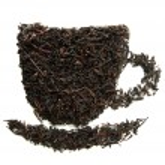 Dry black tea, isolated on white — Stock Photo