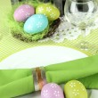 Easter table setting, close up — Stock Photo #21303299