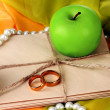 Conceptual photo wedding in apple style — Stockfoto