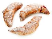 Cornetti gusto isolati su bianco — Foto Stock