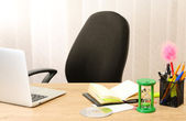 Office desktop in background room — Stock Photo