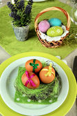 Easter table setting, close up — Stock Photo