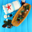 Sea spa elements close up - Stock Photo