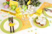 Servindo o grande plano de mesa de páscoa — Fotografia Stock