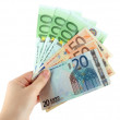 Euro banknotes isolated on a white — Stock Photo #21914275