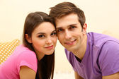 Young couple at home — Stock Photo
