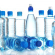 Different water bottles isolated on white — Stock Photo #21989491