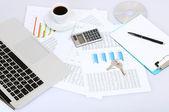 Office desktop close-up — Stock Photo