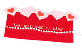 Greeting card for Valentine's Day isolated on white — Foto Stock