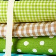 Stock Photo: Color mottled fabrics close-up background