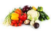 Fresh vegetables isolated on white — Stock Photo