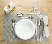 сервировки стола, крупным планом — Стоковое фото