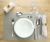 Table setting, close up — Stock Photo