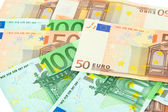 Euro banknotes close-up — Stok fotoğraf
