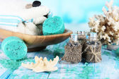 Spa composition on sea background — Stock Photo