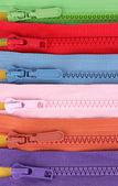 Multicolored zipper closeup — Stock Photo
