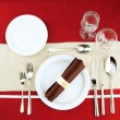 Holiday table setting, close up — Stock Photo #22648101