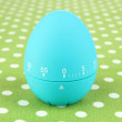 Blue egg timer, on color background — Stock Photo