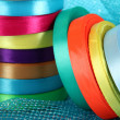 Bright ribbons close-up - Stock Photo