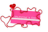 Greeting card for Valentine's Day isolated on white — Stock Photo
