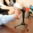 Conference meeting microphones — Stock Photo #22798508