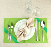 Holiday table setting, close up — Stockfoto