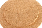 Circle corkboard close up — Stock Photo