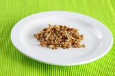 Wheat germs on plate, close up — Stock Photo