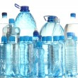 Stock Photo: Different water bottles isolated on white