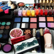 Lot of different cosmetics close-up — Stock Photo