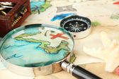 Map of treasures background — Stock Photo