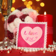 Composition Valentine's Day on lights background — Foto de Stock