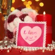 Composition Valentine's Day on lights background — Zdjęcie stockowe