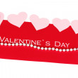 Greeting card for Valentine's Day isolated on white — Stockfoto