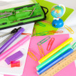 Various school supplies close-up isolated on white — Stock Photo #23190762