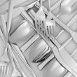 Royalty-Free Stock Photo: Forks, knifes and spoons close-up