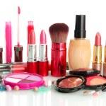 Beautiful decorative cosmetics, isolated on white — Stock Photo #23191196