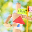 Rent estate on bright background — Stock Photo