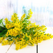 Bouquet of mimosa on bright background - Foto de Stock