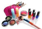 Cosmetics isolated on white — Stock Photo