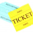 Colorful tickets isolated on white — Stock Photo #23325354