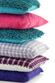 Hill colorful pillows isolated on white — Stock Photo