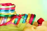 Bright ribbons on light background — Stock Photo