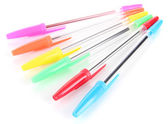 Colorful pens isolated on white — 图库照片