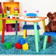 Small and colorful table and chairs for little kids - Photo