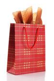 Shopping bag isolated on white — Stock Photo