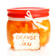 Stock Photo: Orange jam with zest, isolated on white