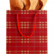 Shopping bag isolated on white — Stock Photo