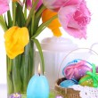 Place setting for Easter close up — Photo